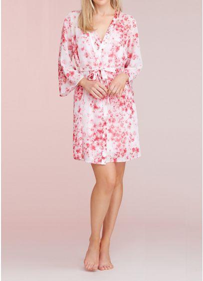 Oscar de la Renta Floral Plus Size Robe - Wedding Gifts & Decorations