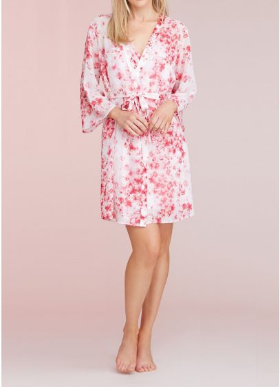Oscar de la Renta Floral Plus Size Robe - Wedding Gifts & Decorations