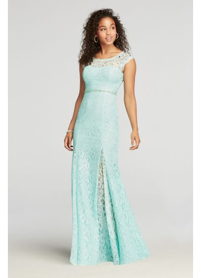 Long Mermaid/ Trumpet Cap Sleeves Prom Dress - My Michelle