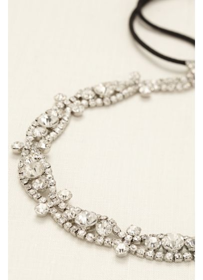 Woven Rhinestone Headband - Wedding Accessories
