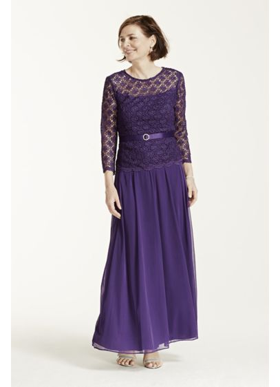 Long Sheath 3/4 Sleeves Mother and Special Guest Dress - RM Richards