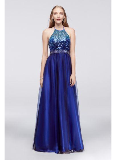Long Ballgown Halter Quinceanera Dress - Masquerade