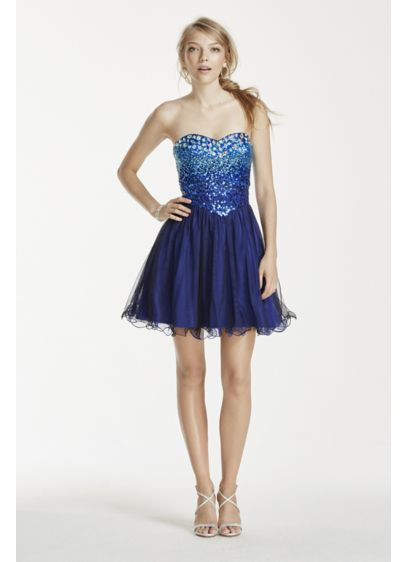 Short Ballgown Strapless Cocktail and Party Dress - Masquerade
