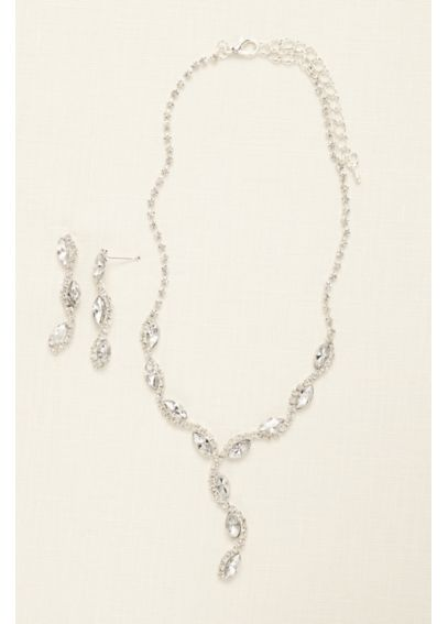 Scalloped Marquise Necklace and Earring Set 70856S