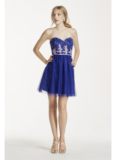 Short Ballgown Strapless Prom Dress - Jump