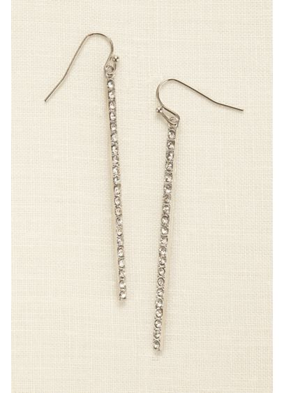 Linear Pave Earrings - Wedding Accessories