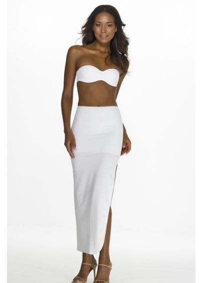 Full Length Control Slip 7218WHITE