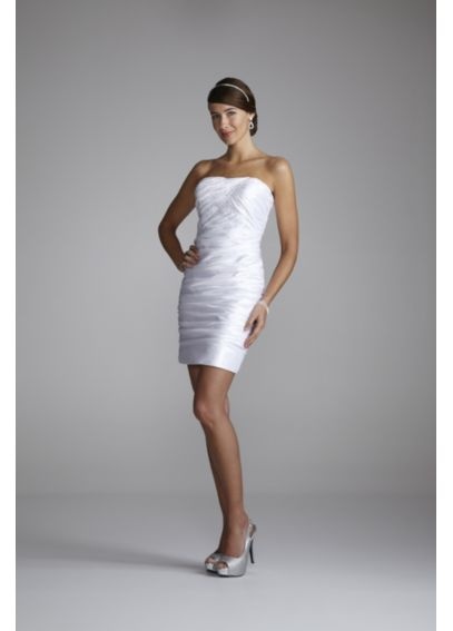 Strapless Taffeta Beaded Sheath Dress 722D