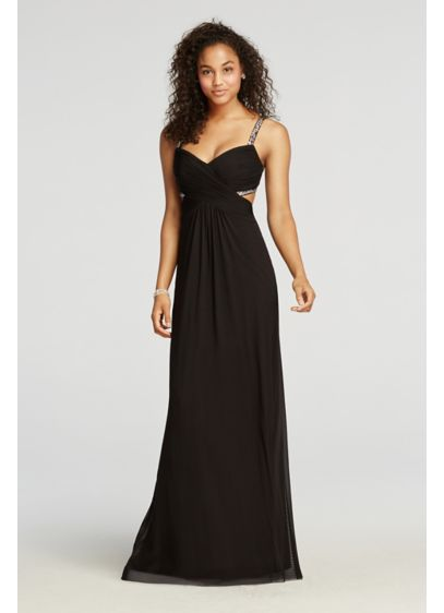 Long A-Line Spaghetti Strap Prom Dress - Jump