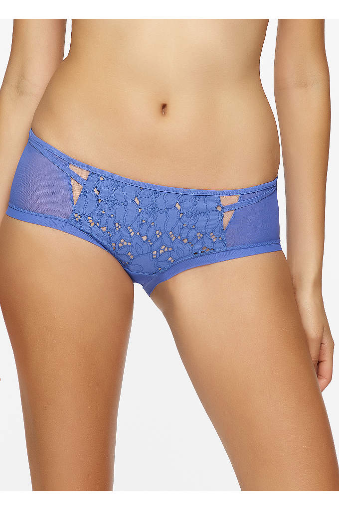 Felina Beautiful Love Hipsters - Floral eyelet and sheer mesh come together on