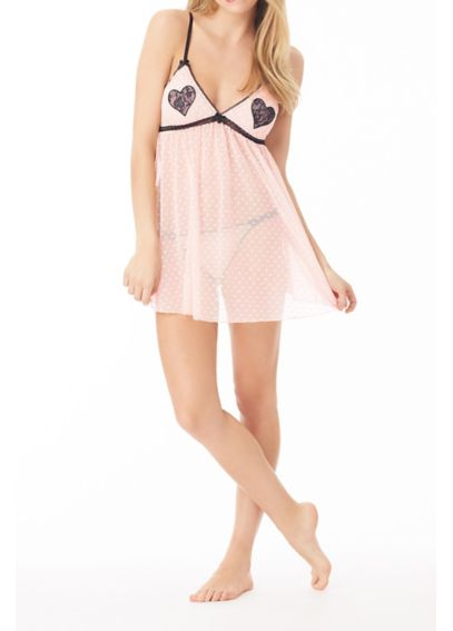 Betsey Johnson Be Mine Mesh Babydoll 7321071