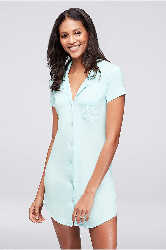 Betsey Johnson Jersey Mrs Sleep Shirt - Soft and comfy with a retro feel, this