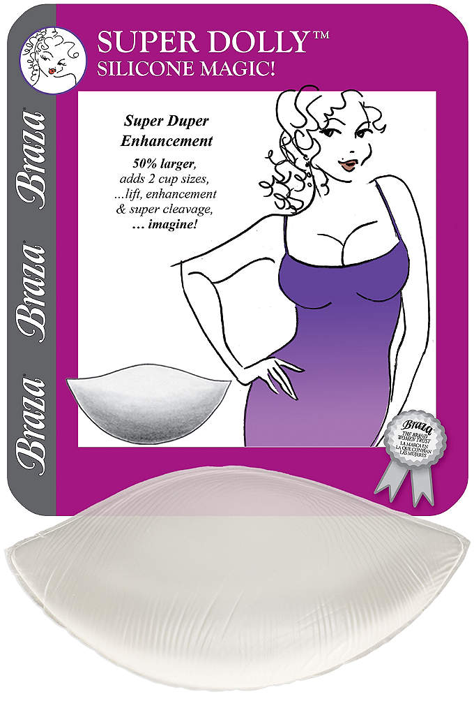 Braza Super Dolly Silicone Push-Up Pads - Create lift, shaping, and volume with these enhancing
