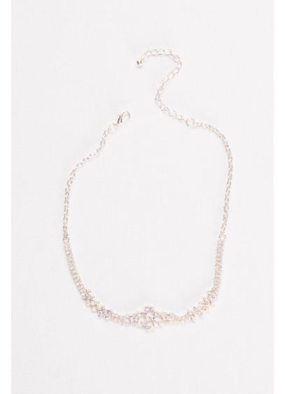 Iridescent Crystal Cluster Choker - Wedding Accessories