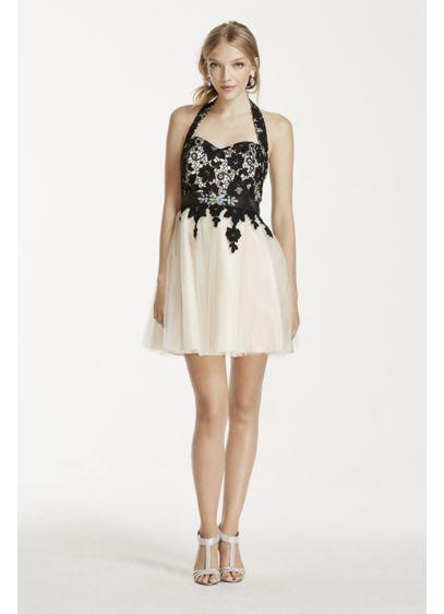 Short Ballgown Halter Prom Dress - Masquerade