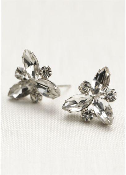 Crystal Starburst Stud Earrings - Wedding Accessories