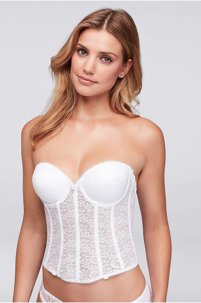 Dominique Push-up Brasselette - This super-shaping longline corset-style brasalette provides figure control,