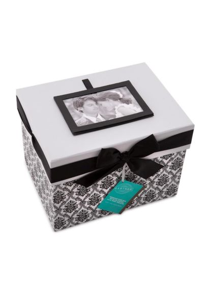 Keepsake Card Box Black and White 78576