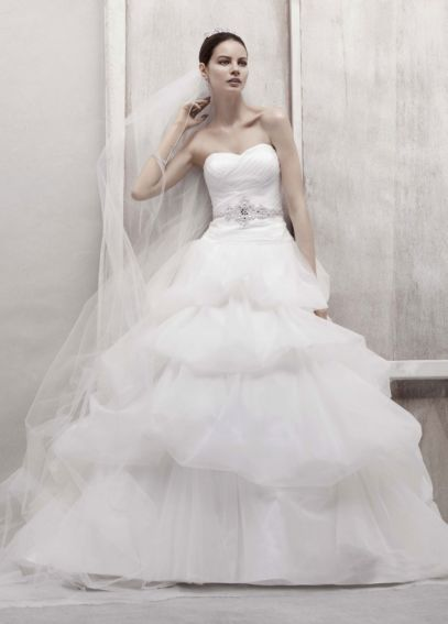 Petite Tulle Ball Gown with Pick Up Skirt 7CWG435