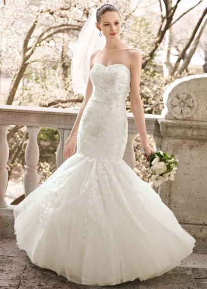 Petite Layered Lace Mermaid Wedding Dress 7CWG482