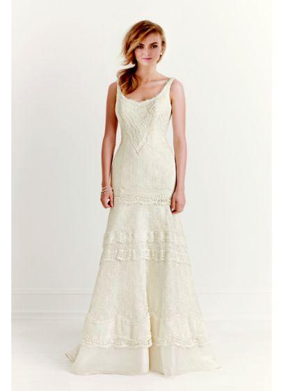 Long Mermaid/ Trumpet Vintage Wedding Dress - Melissa Sweet