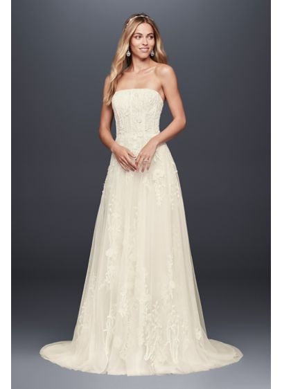 Long A-Line Vintage Wedding Dress - Melissa Sweet