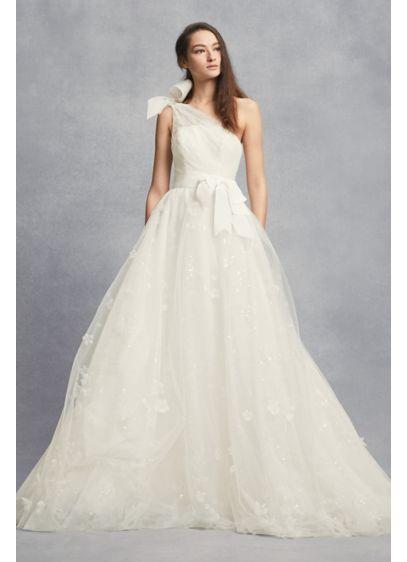 Long A-Line Romantic Wedding Dress - White by Vera Wang