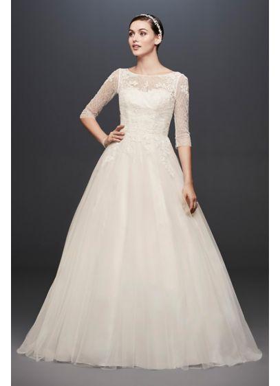 Long Ballgown Formal Wedding Dress - David's Bridal Collection