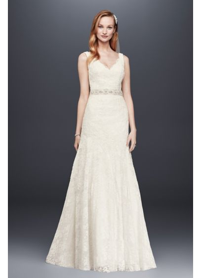 Long Mermaid/ Trumpet Country Wedding Dress - Jewel