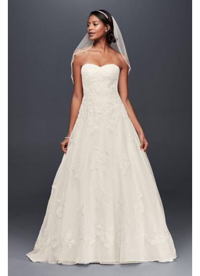 Long A-Line Formal Wedding Dress - Jewel
