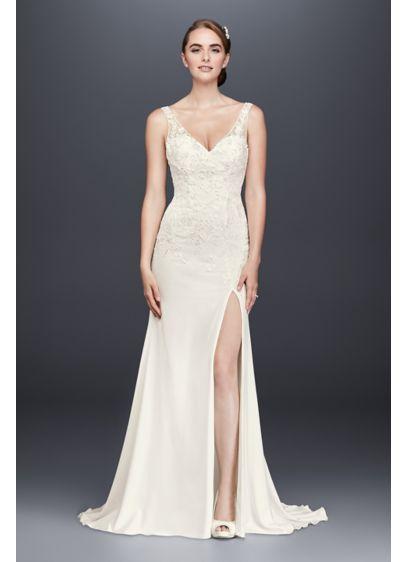 Long Sheath Formal Wedding Dress - David's Bridal Collection