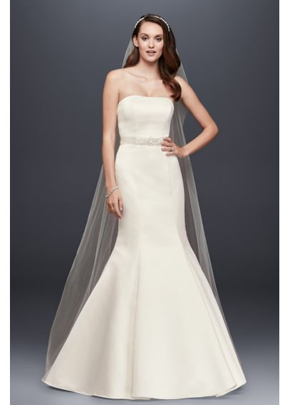 Petite Strapless Trumpet Gown With Ribbon Waist 7WG9871