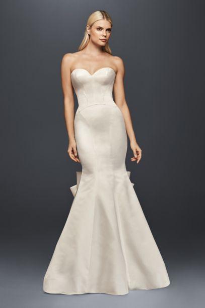 Truly Zac Posen Seamed Satin Petite Wedding Dress David