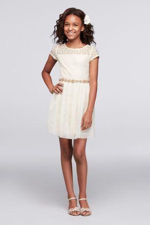 Ivory lace short dresses