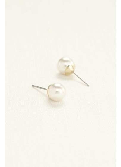 Classic Pearl Stud Earrings - Wedding Accessories