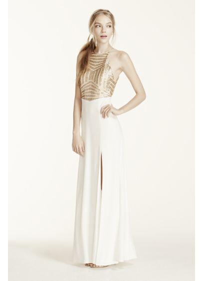 Long Sheath Halter Prom Dress - Masquerade