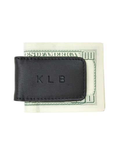 Personalized Leather Magnetic Money Clip 810-5