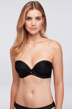 Dominique Deep Plunge Strapless Bra - Ideal for plunging tops and strapless gowns, this
