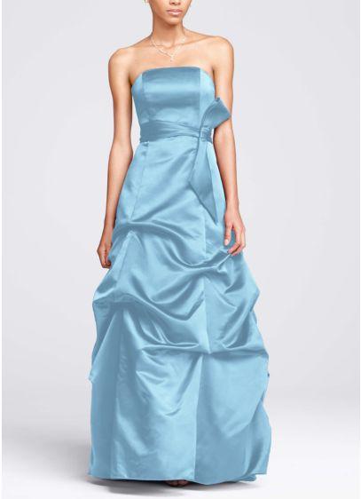 Long Structured David's Bridal Bridesmaid Dress