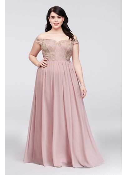 Long A-Line Off the Shoulder Formal Dresses Dress - City Triangles