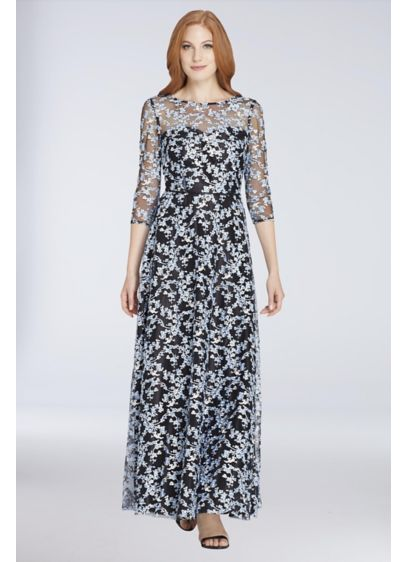 Long 0 3/4 Sleeves Dress -