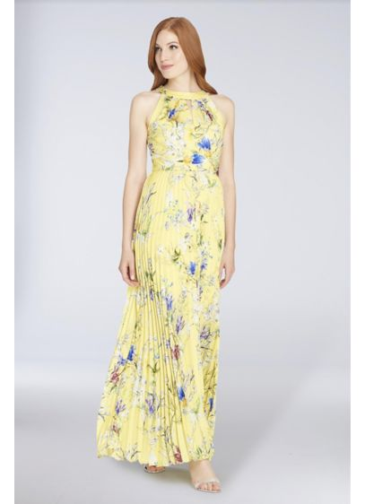 Long A-Line Halter Formal Dresses Dress - Tahari ASL