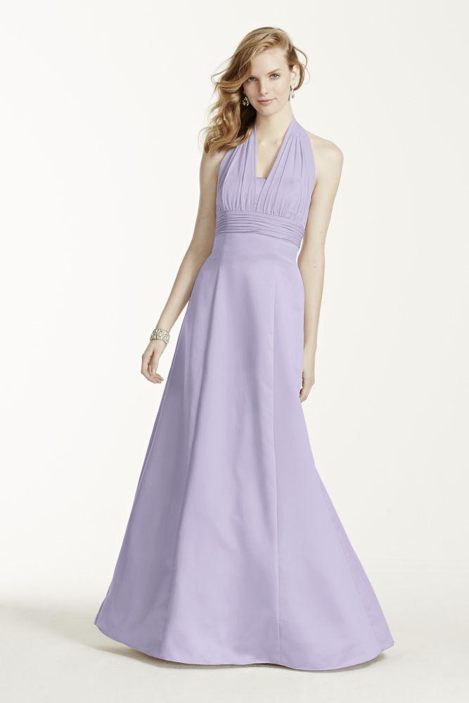 Satin empire waist ball gown with halter style 81441 ebay for Halter empire waist wedding dresses