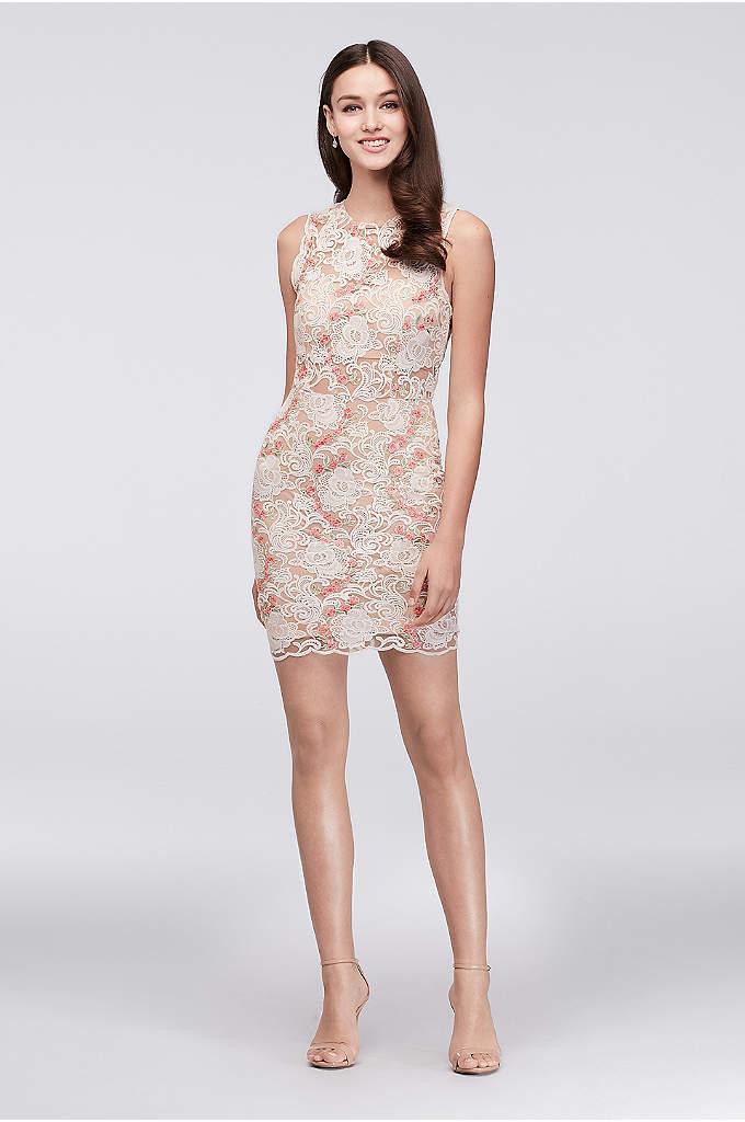 Boscov's Champagne Lace Dress