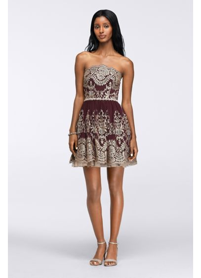 Short Ballgown Strapless Quinceanera Dress - City Triangles