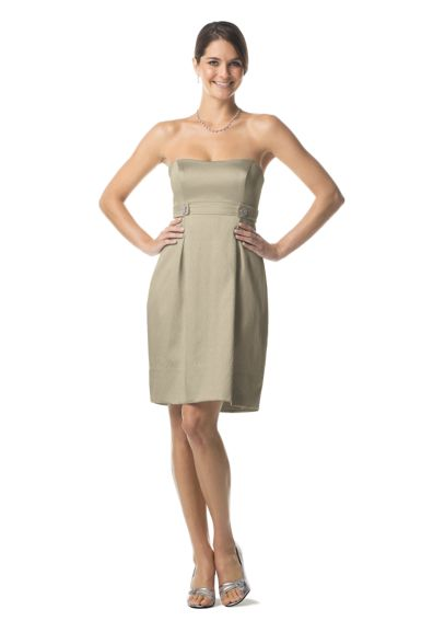 Strapless Metallic Crepe Dress 83266