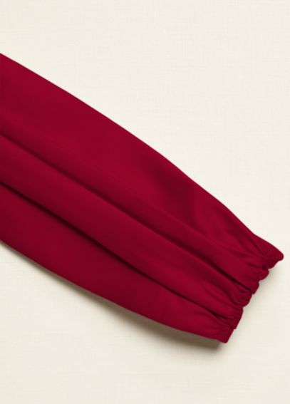 Satin Ruched Wide Sash 83688
