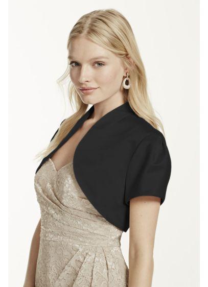 Short Sleeve Satin Bolero - Wedding Accessories