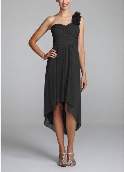 Short Sheath One Shoulder Dress -