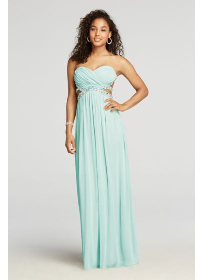 Long A-Line Strapless Prom Dress - City Triangles